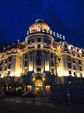 Hôtel Negrescoat la nuit Photo stock