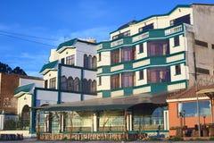 Hôtel Residencial Brisas del Titicaca dans Copacabana, Bolivie Images libres de droits
