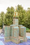 Hôtel royal de tour d'horloge de Makkah dans Legoland Allemagne photos libres de droits