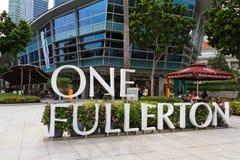 Hôtel Singapour de Fullerton photographie stock libre de droits
