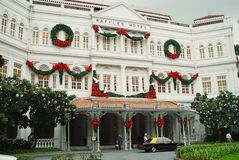 Hôtel Singapour de Raffles Photos libres de droits
