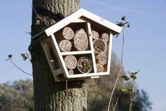 Hôtel solitaire d'abeille photographie stock libre de droits