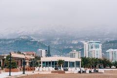 Hôtel Tre Canne sur la côte de Budva Photos libres de droits