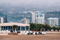 Hôtel Tre Canne sur la côte de Budva Photographie stock libre de droits