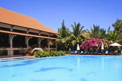 Hôtel tropical en Phan Thiet, Vietnam images stock