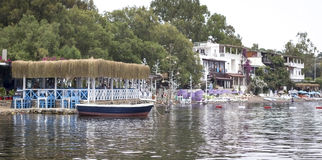 Hôtels de côté de mer Photo stock