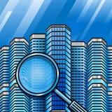 Hôtels de maisons de rapports d'immobiliers de recherche Photo libre de droits