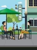 Hôtels de restaurants Photo libre de droits