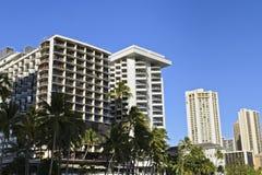 Hôtels du front de mer de Waikiki image libre de droits