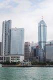 Hôtels et gratte-ciel sur Hong Kong Island Images libres de droits