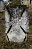 Hôtes en pierre maltais sur le cimetière ukrainien antique du ` s de Cosaque, odes Images stock