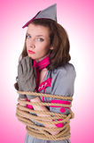 Hôtesse féminine attachée Photographie stock libre de droits