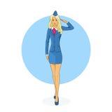 Hôtesse Salute Airline Crew illustration libre de droits