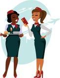 Hôtesses de l'air prêtes à voler Photographie stock