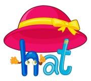 H voor hoed royalty-vrije illustratie