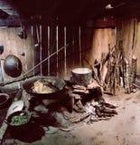 H&#x27 nero; Cucina della casa della tribù di Mong Fotografie Stock