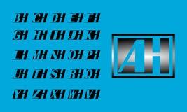 H - Z H信件商标传染媒介设计 简单的信件商标设计 图库摄影