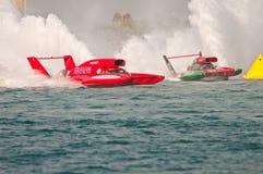 小船冠军赛跑世界的杯子h1羚羊属 免版税库存图片