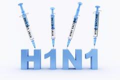 h1n1 εμβόλιο συρίγγων Στοκ Φωτογραφία