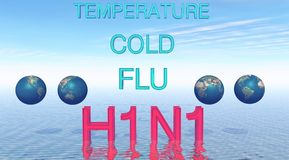 H1N1 Royalty Free Stock Photos