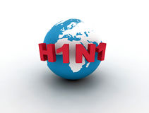 H1N1 Photographie stock