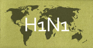 H1N1. Abstract image with earth map on high resolution old grunge paper Royalty Free Stock Photography