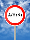 A/H1N1 stock illustratie