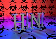 H1N1-bio-hazzard Stock Photo