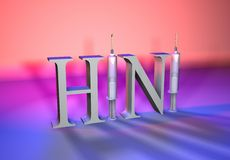 H1N1-color Royalty Free Stock Images