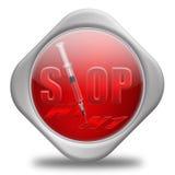 H1n1-EINDE! stock illustratie