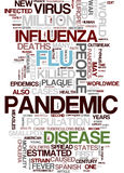 H1N1 flu virus word cloud Stock Photos