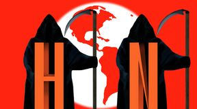 H1N1 global concept. Royalty Free Stock Photos