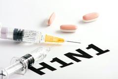 H1N1 het Virus van de griep Stock Foto's