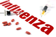 H1N1 het Virus van de griep Stock Foto