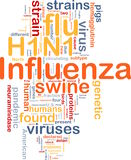 H1N1 Influenza background concept royalty free illustration