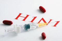 H1N1 Influenza Virus Royalty Free Stock Images