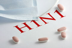 H1N1 Influenza Virus Stock Image
