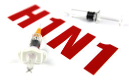 H1N1 Influenza Virus royalty free stock photography
