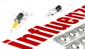 H1N1 Influenza Virus Stock Photos