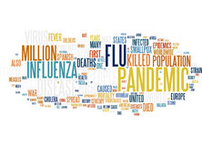 H1N1 Pandemic virus word cloud Royalty Free Stock Images