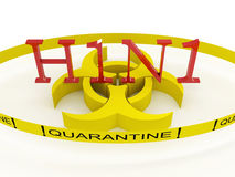 H1N1 quarantine Stock Photos