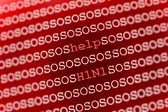 H1N1 swine flu background Stock Images