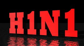 H1N1 virus vector illustratie