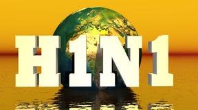 H1N1 virus royalty-vrije illustratie