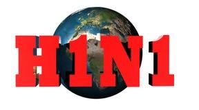 H1N1 virus stock illustratie
