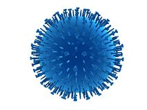 H1n1 virus Stock Image