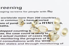 H1N1 Virus Royalty Free Stock Image