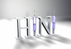 H1N1-white Royalty Free Stock Photography