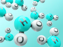 H20 molecules Royalty Free Stock Photo
