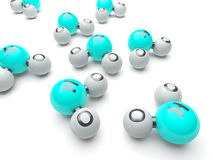 h20 molekuły Zdjęcia Royalty Free
